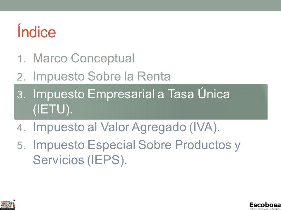 Índice 1.Marco Conceptual 2. Impuesto Sobre la Renta (ISR).