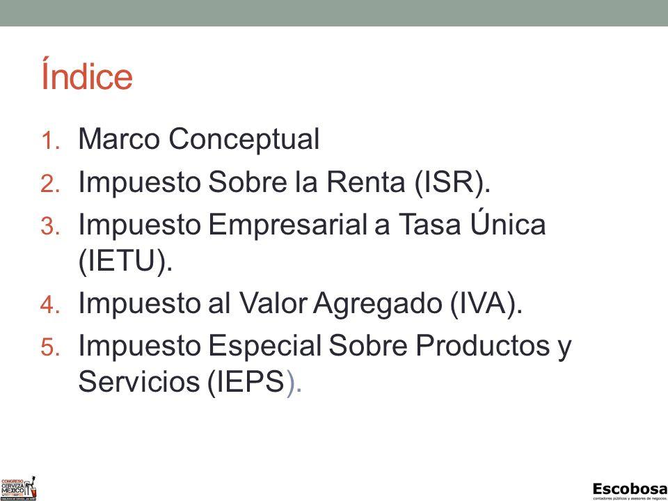ISR – Resultado Fiscal Al resultado fiscal se le aplicará la tasa del: 2012 30% 2013 29% 2014 28%