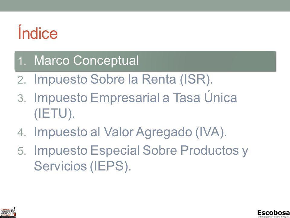 MARCO CONCEPTUAL Impuestos en México