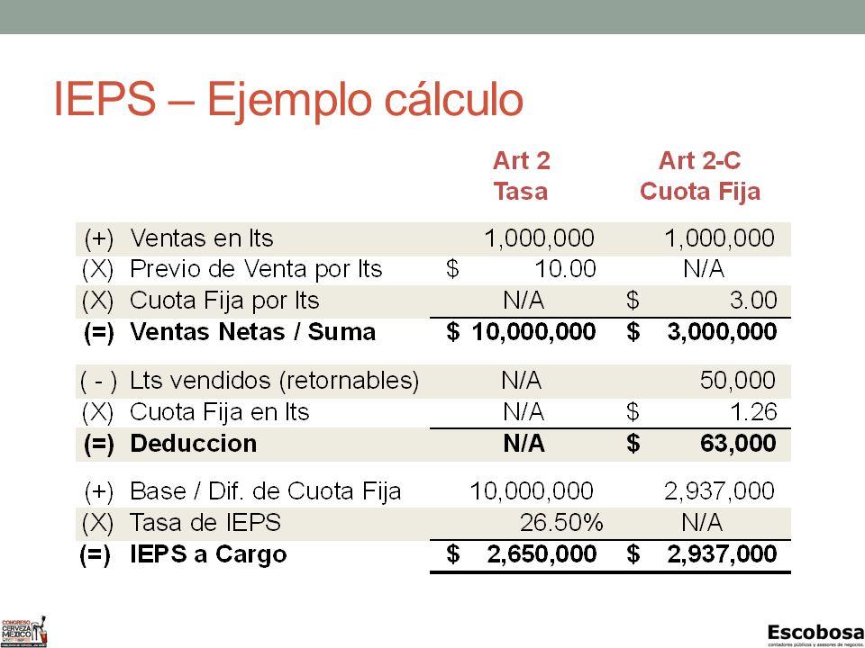 IEPS – Ejemplo cálculo