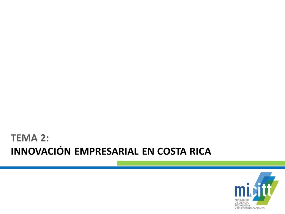 TEMA 2: INNOVACIÓN EMPRESARIAL EN COSTA RICA