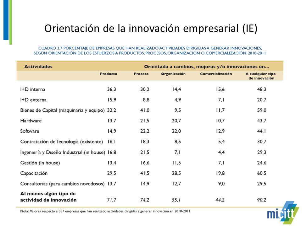 Orientación de la innovación empresarial (IE)