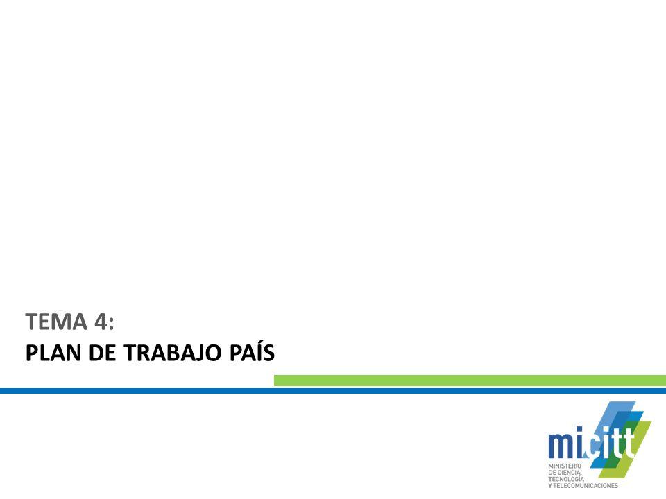 TEMA 4: PLAN DE TRABAJO PAÍS
