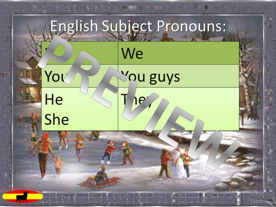 Spanish Subject Pronouns: