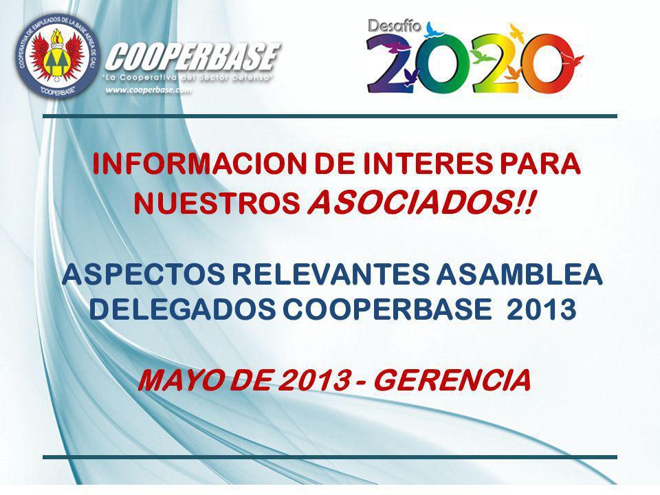 INFORMACION DE INTERES PARA NUESTROS ASOCIADOS!.