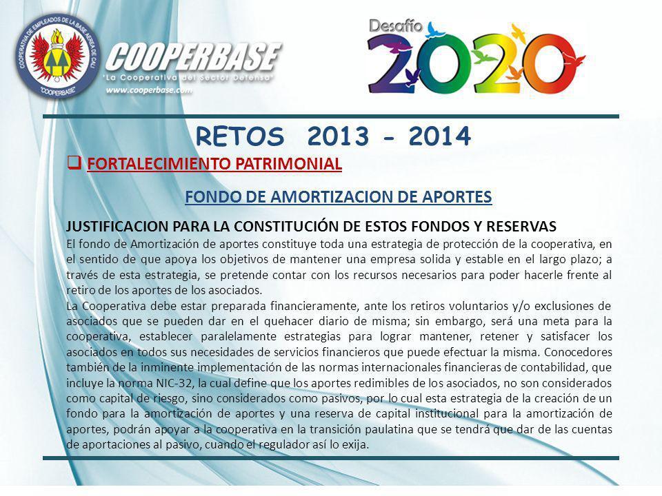 ASPECTOS RELEVANTES ASAMBLEA – REFORMA ESTATUTOS 2013 VINCULO ASOCIATIVO PARA EL GRUPO FAMILIAR DEL ASOCIADO EN PRIMER GRADO DE CONSANGUINIDAD Y PRIMERO CIVIL (PADRES – ESPOSA (O) – HIJOS MAYORES DE EDAD (Reglamentado por Consejo) VINCULO ASOCIATIVO PARA PERSONAL RETIRADO SECTOR DEFENSA CON MINIMO DIEZ AÑOS DE PERMANENCIA EN LA COOPERATIVA COMO ASOCIADO.