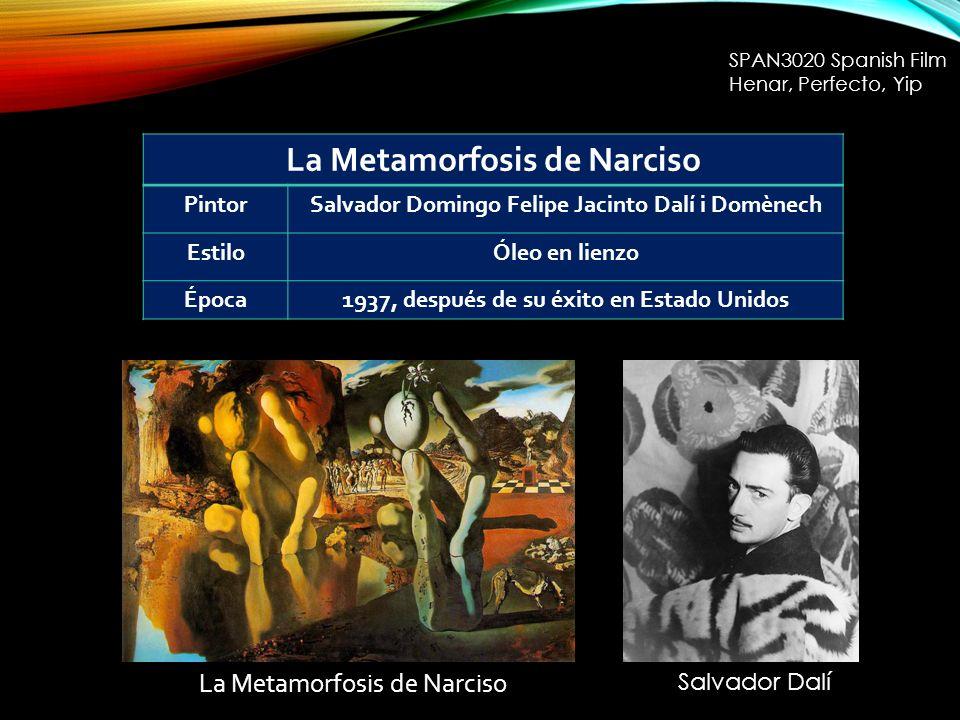 La Metamorfosis de Narciso PintorSalvador Domingo Felipe Jacinto Dalí i Domènech EstiloÓleo en lienzo Época1937, después de su éxito en Estado Unidos SPAN3020 Spanish Film Henar, Perfecto, Yip Salvador Dalí La Metamorfosis de Narciso