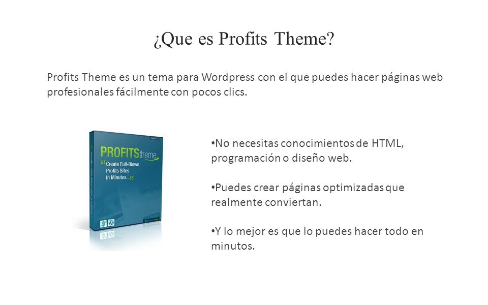 ¿Que es Profits Theme.