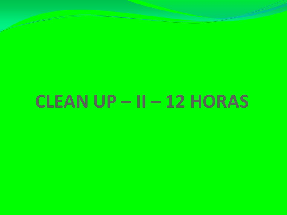 CLEAN UP – II – 12 HORAS