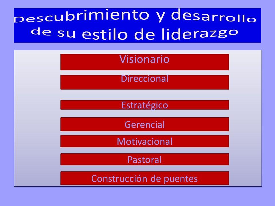 Visionario Direccional Estratégico Gerencial Motivacional Pastoral Construcción de puentes