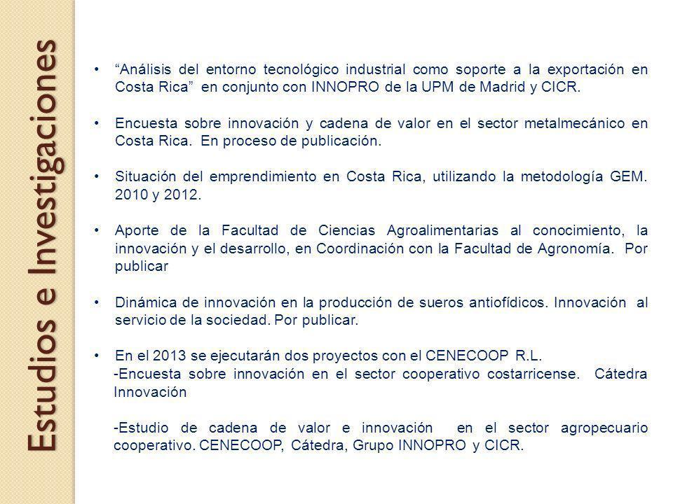 Análisis del entorno tecnológico industrial como soporte a la exportación en Costa Rica en conjunto con INNOPRO de la UPM de Madrid y CICR. Encuesta s