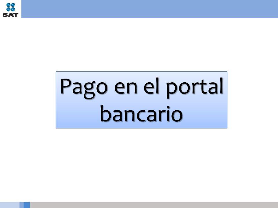 Pago en el portal bancario
