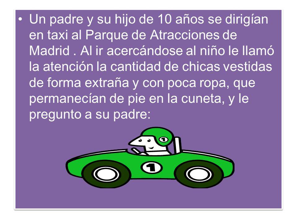 Un padre y su hijo de 10 años se dirigían en taxi al Parque de Atracciones de Madrid.
