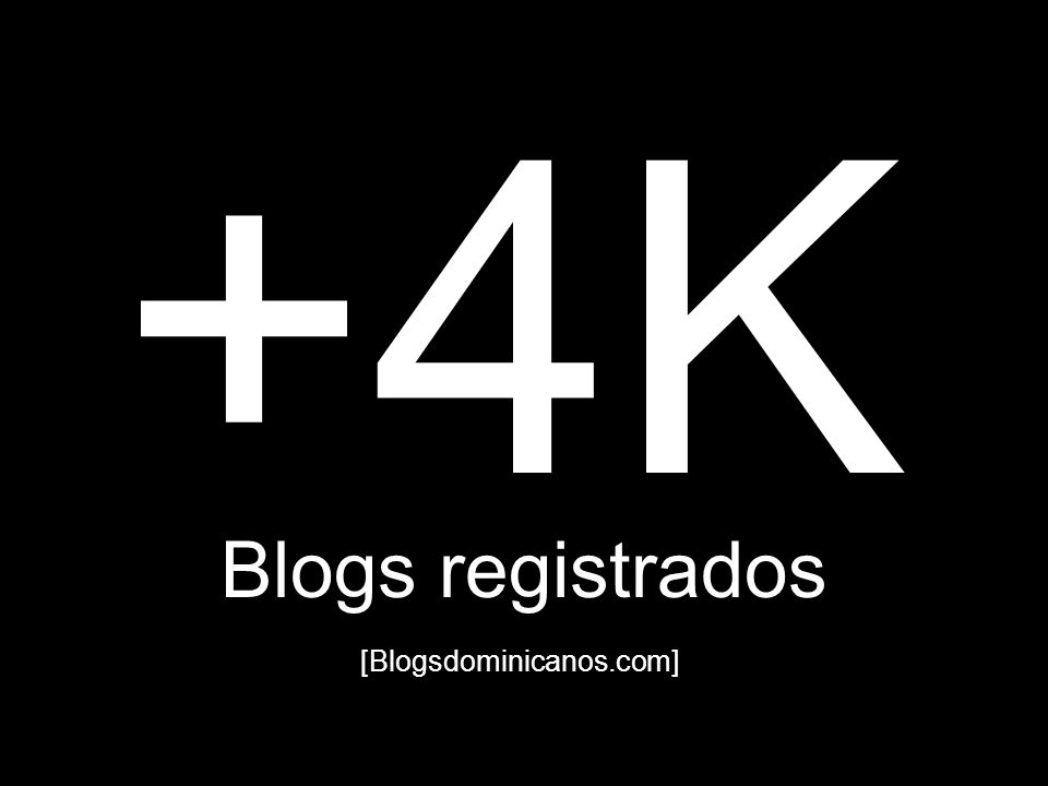 +4K Blogs registrados [Blogsdominicanos.com]