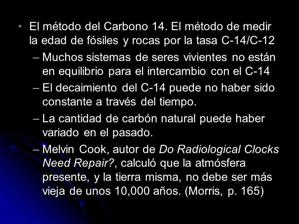 El método del Carbono 14.