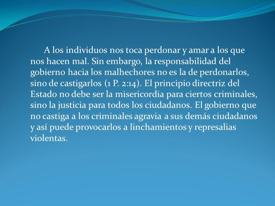 Argumentos bíblicos y morales en contra de la pena de muerte 3.
