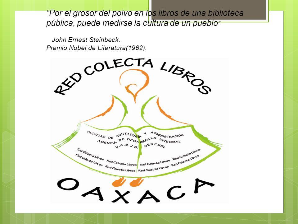 METODOLOGÍA Dar a conocer mediante una conferencia de prensa, el proyecto sustentable, La Guelaguetza de acervo bibliográfico para municipios marginados del estado de Oaxaca, 2012.