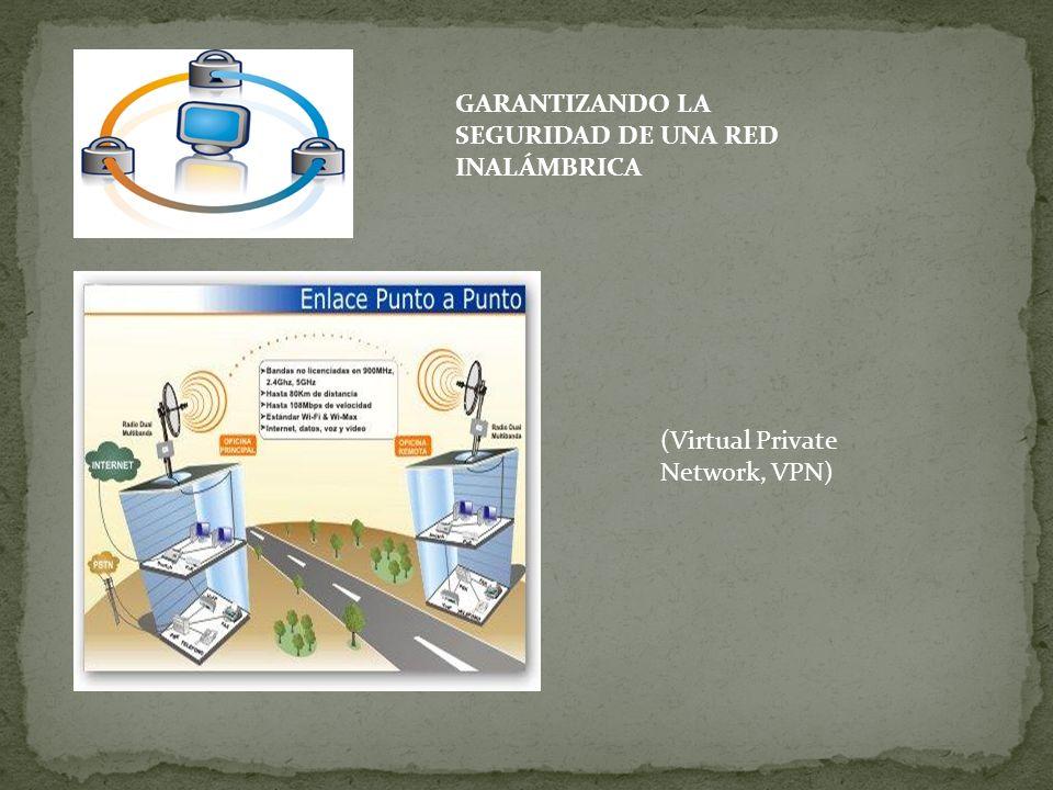 GARANTIZANDO LA SEGURIDAD DE UNA RED INALÁMBRICA (Virtual Private Network, VPN)