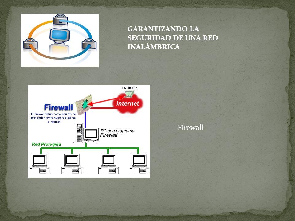GARANTIZANDO LA SEGURIDAD DE UNA RED INALÁMBRICA Firewall