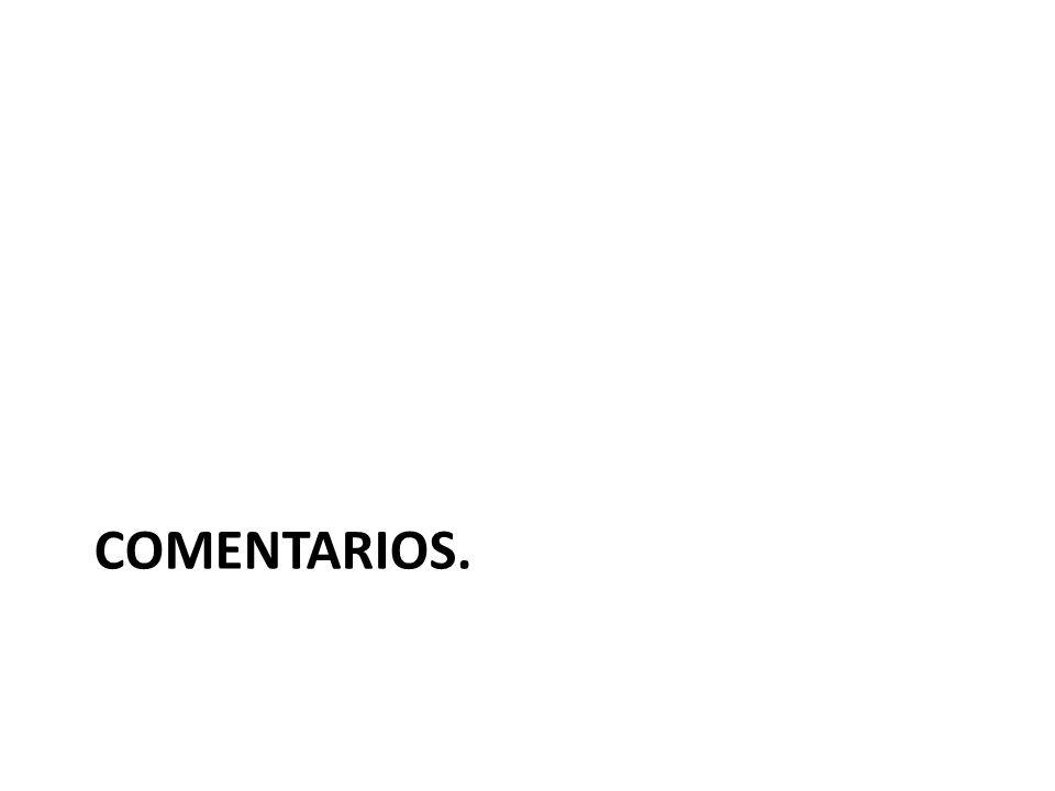 COMENTARIOS.