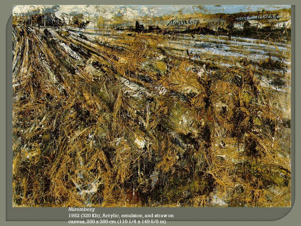 Nuremberg 1982 (320 Kb); Acrylic, emulsion, and straw on canvas, 280 x 380 cm (110 1/4 x 149 5/8 in)