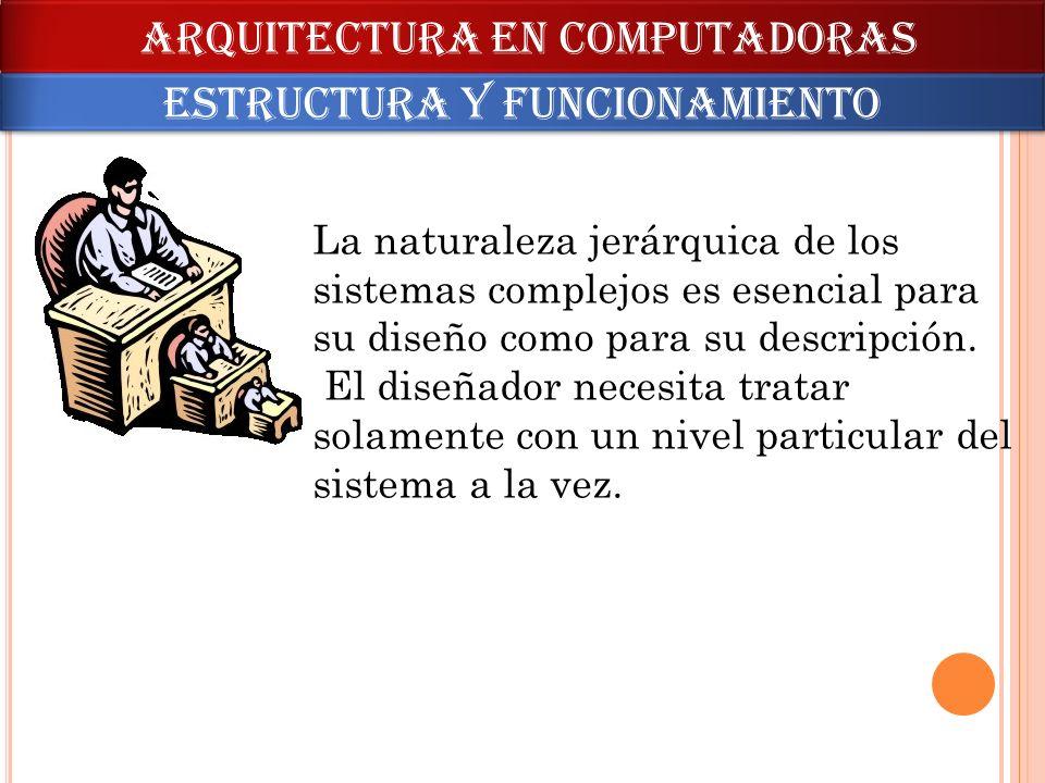 La naturaleza jerárquica de los sistemas complejos es esencial para su diseño como para su descripción. El diseñador necesita tratar solamente con un