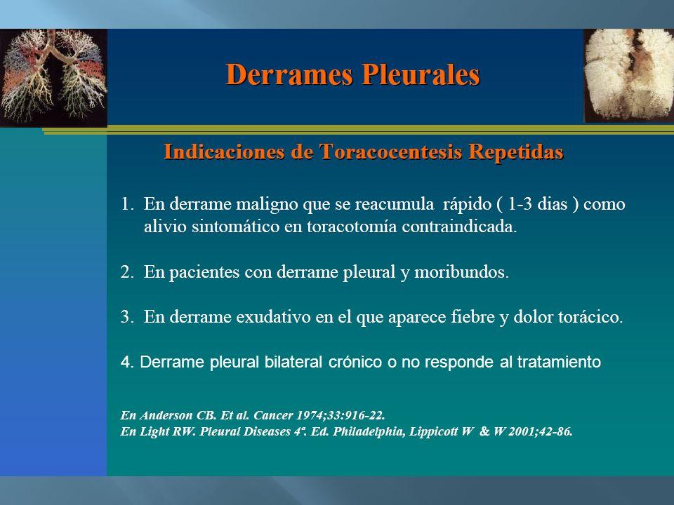 4. Derrame pleural bilateral crónico o no responde al tratamiento