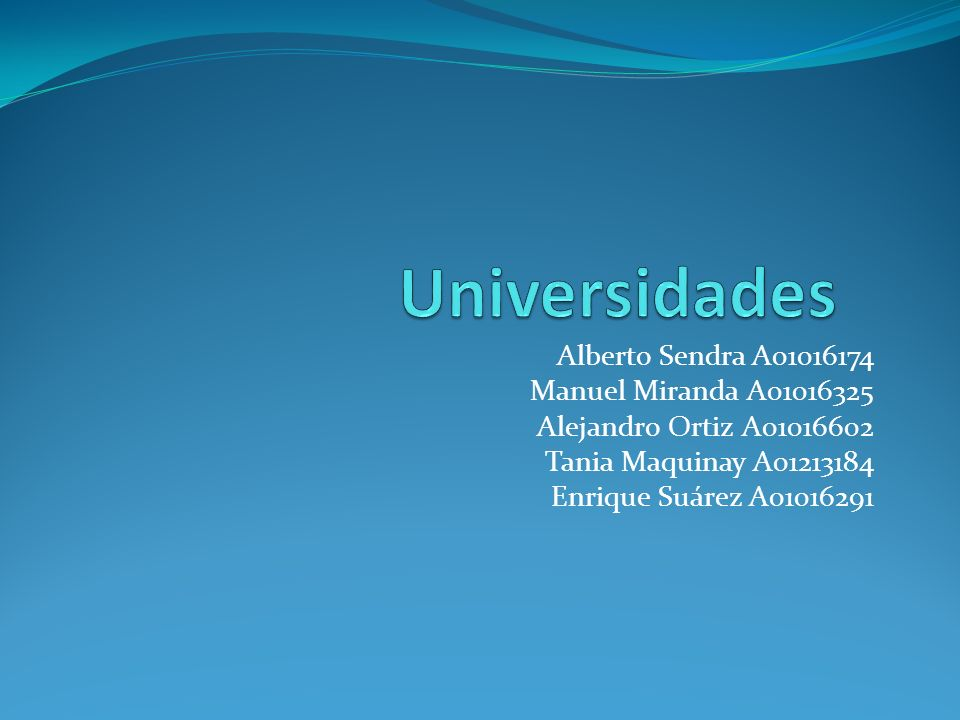 Alberto Sendra A01016174 Manuel Miranda A01016325 Alejandro Ortiz A01016602 Tania Maquinay A01213184 Enrique Suárez A01016291
