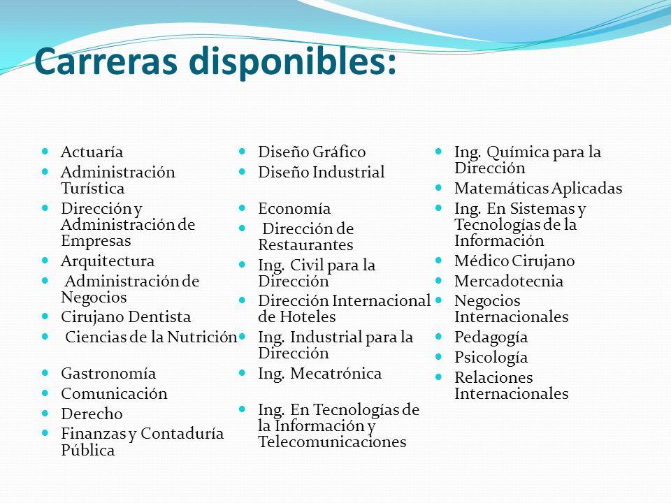 Referencias: Asistencia Preuniversitaria Instituto Tecnológico Autónomo de México.