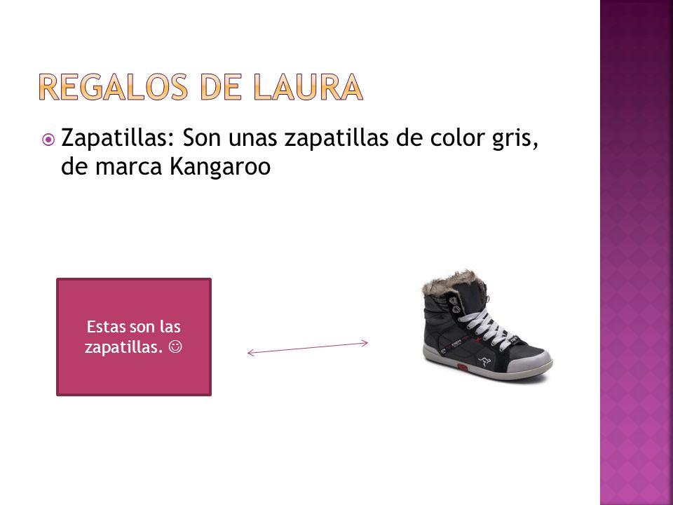 Zapatillas: Son unas zapatillas de color gris, de marca Kangaroo Estas son las zapatillas.