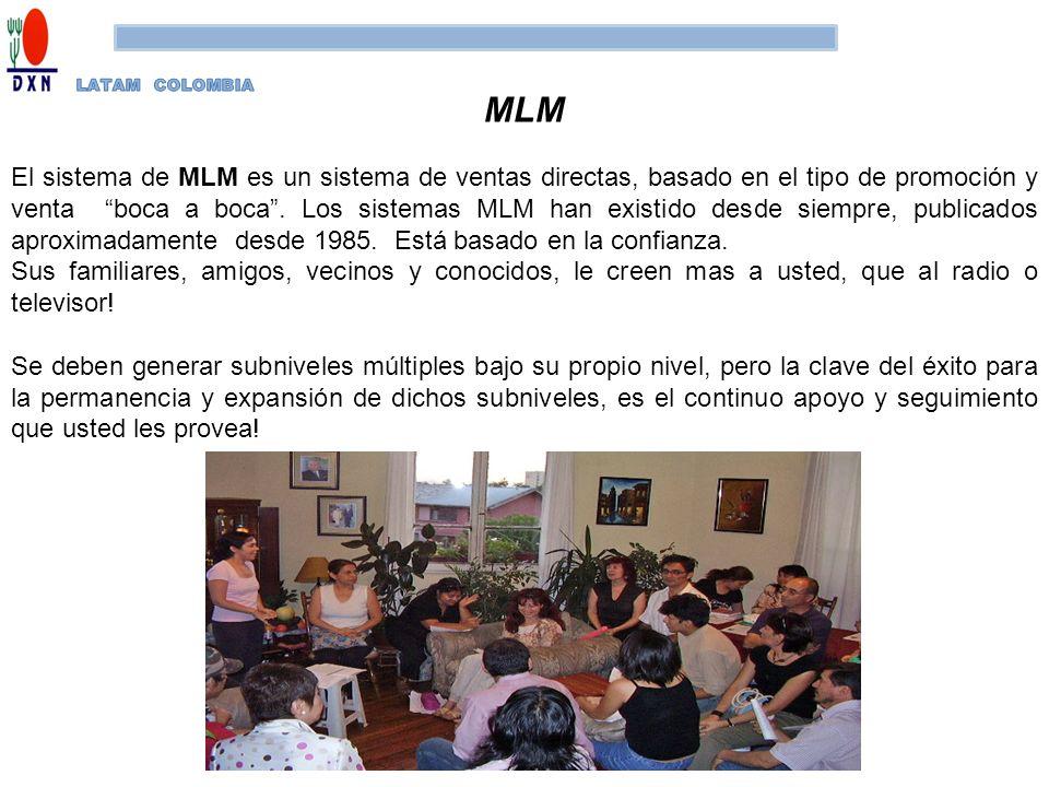 MLM El sistema de MLM es un sistema de ventas directas, basado en el tipo de promoción y venta boca a boca. Los sistemas MLM han existido desde siempr