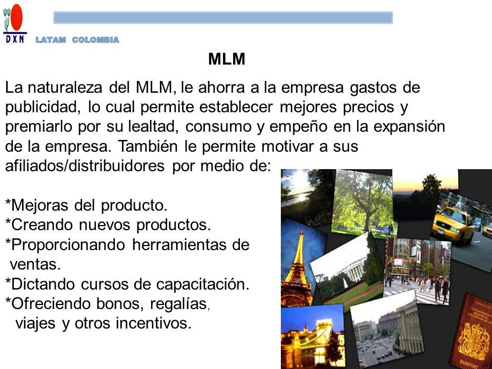 MLM La naturaleza del MLM, le ahorra a la empresa gastos de publicidad, lo cual permite establecer mejores precios y premiarlo por su lealtad, consumo