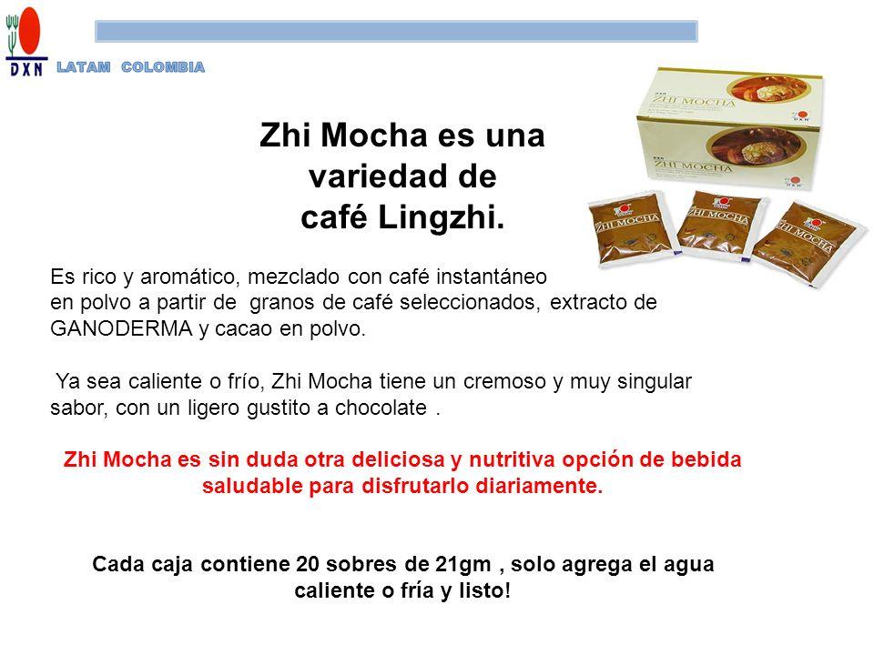Zhi Mocha es una variedad de café Lingzhi. Es rico y aromático, mezclado con café instantáneo en polvo a partir de granos de café seleccionados, extra