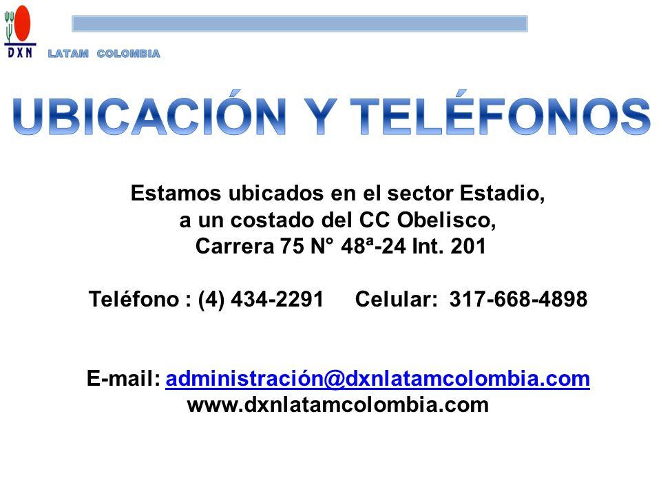 Estamos ubicados en el sector Estadio, a un costado del CC Obelisco, Carrera 75 N° 48ª-24 Int. 201 Teléfono : (4) 434-2291 Celular: 317-668-4898 E-mai