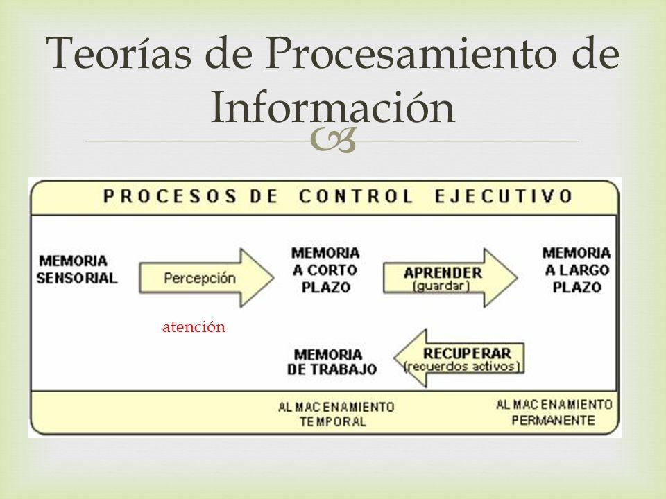 Teorías de Procesamiento de Información atención