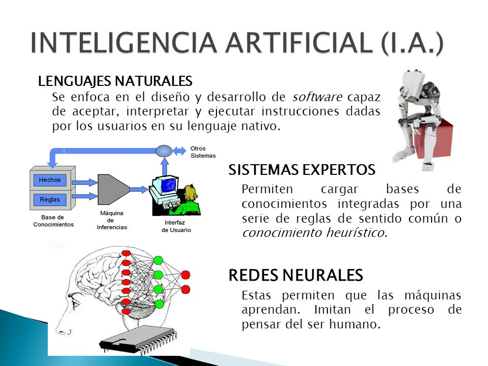 SISTEMAS EXPERTOS Permiten cargar bases de conocimientos integradas por una serie de reglas de sentido común o conocimiento heurístico.