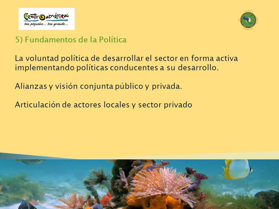 5) Fundamentos de la Política La voluntad política de desarrollar el sector en forma activa implementando políticas conducentes a su desarrollo. Alian