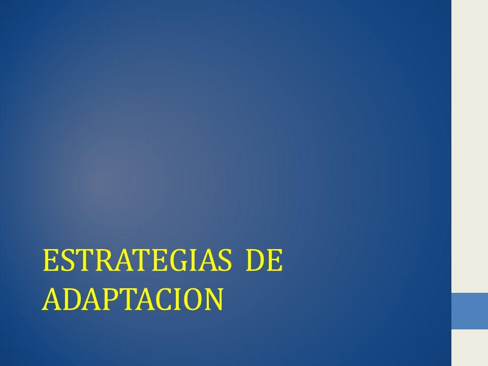 ESTRATEGIAS DE ADAPTACION