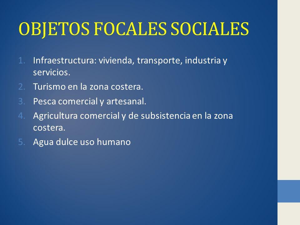 OBJETOS FOCALES SOCIALES 1.Infraestructura: vivienda, transporte, industria y servicios.