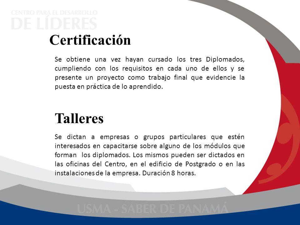 Se obtiene una vez hayan cursado los tres Diplomados, cumpliendo con los requisitos en cada uno de ellos y se presente un proyecto como trabajo final
