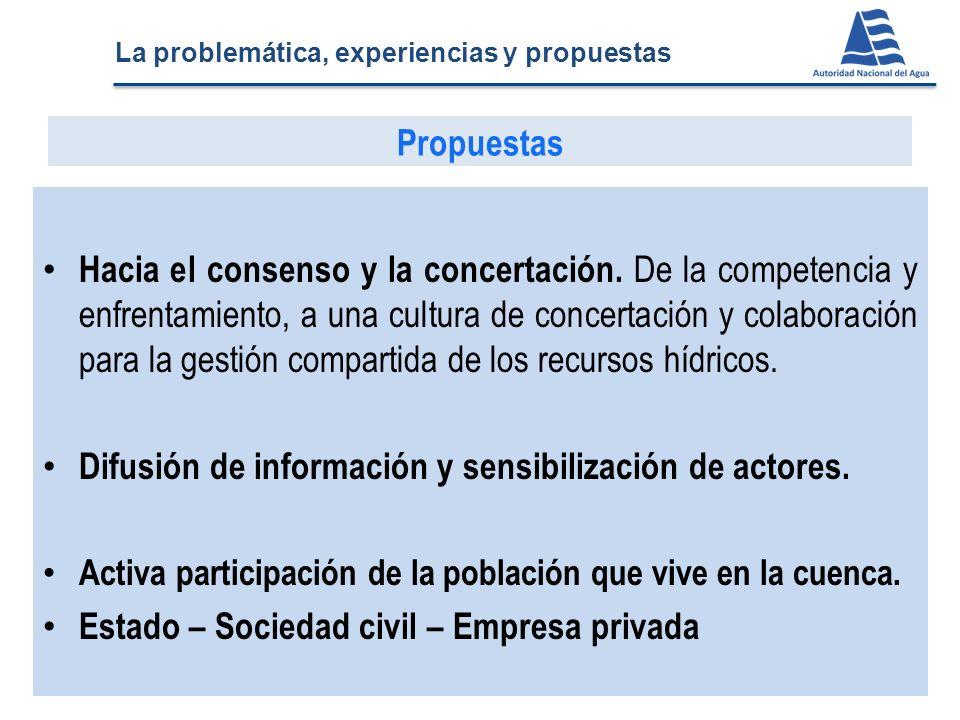 Hacia el consenso y la concertación. De la competencia y enfrentamiento, a una cultura de concertación y colaboración para la gestión compartida de lo