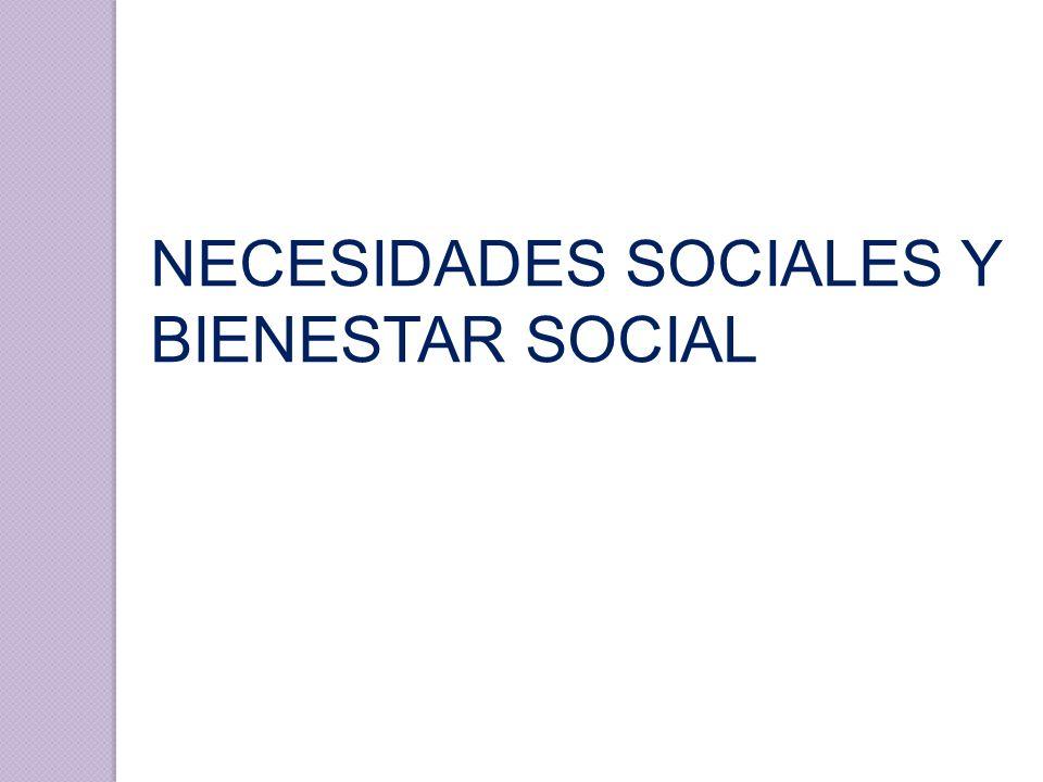 NECESIDADES SOCIALES Y BIENESTAR SOCIAL