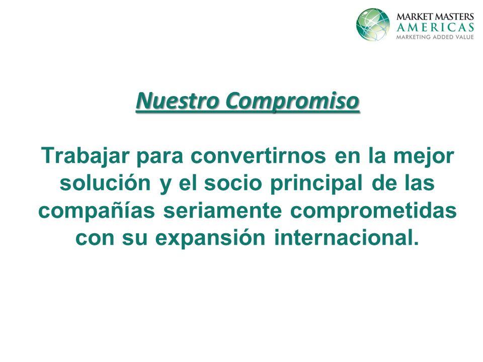 Nuestro Compromiso Trabajar para convertirnos en la mejor solución y el socio principal de las compañías seriamente comprometidas con su expansión internacional.