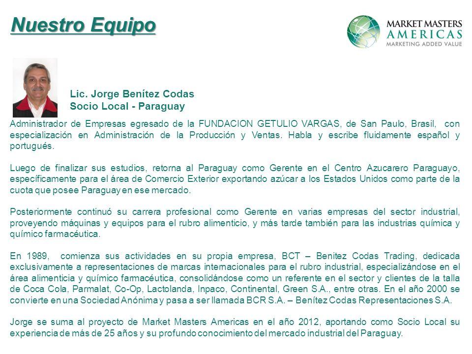 Administrador de Empresas egresado de la FUNDACION GETULIO VARGAS, de San Paulo, Brasil, con especialización en Administración de la Producción y Ventas.