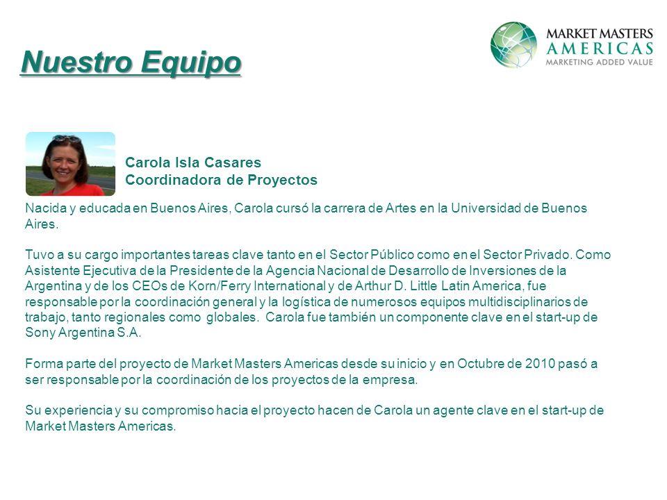 Nacida y educada en Buenos Aires, Carola cursó la carrera de Artes en la Universidad de Buenos Aires.