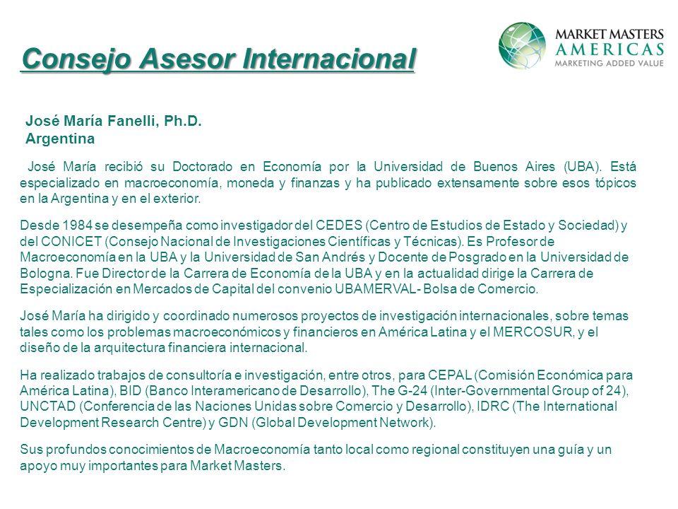 José María recibió su Doctorado en Economía por la Universidad de Buenos Aires (UBA).