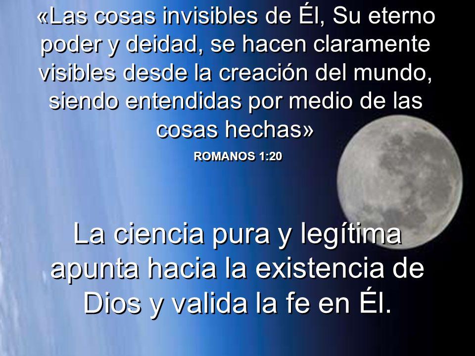 «El cielo proclama la gloria de Dios; de Su Creación nos habla la bóveda celeste. Los días se lo cuentan entre sí; las noches hacen correr la voz» SAL
