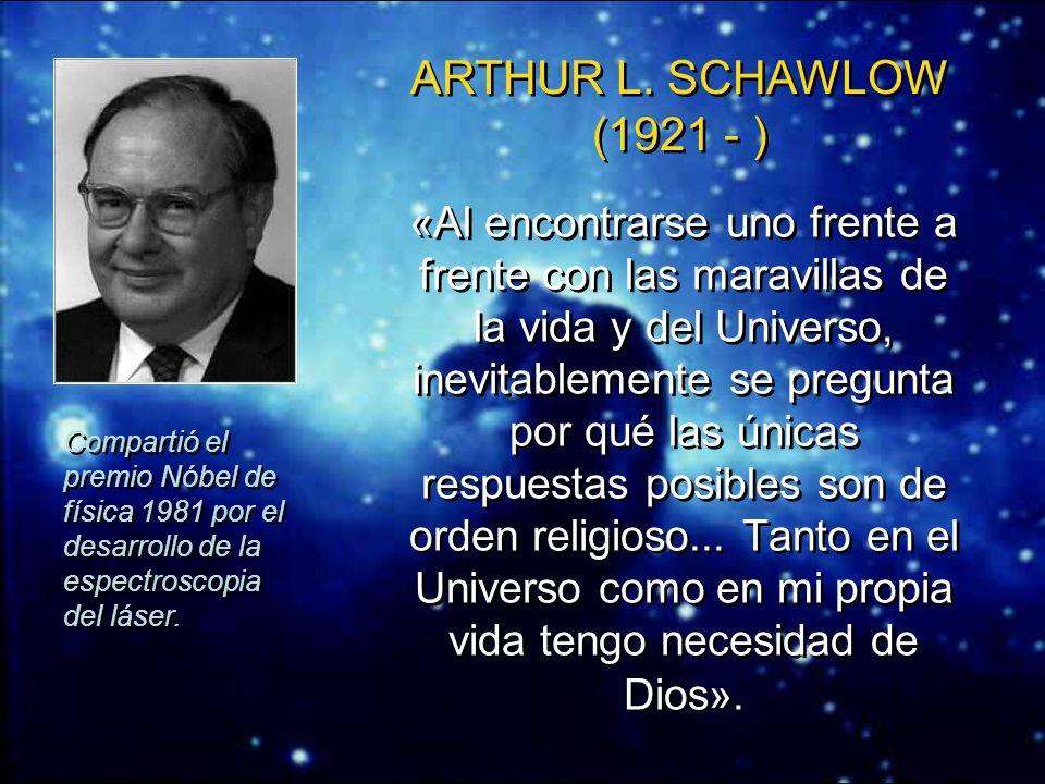 ERNST BORIS CHAIN (1906 - 1979) Premio Nóbel de medicina 1945 por su trabajo con la penicilina. «La idea fundamental del designio o propósito [divino]
