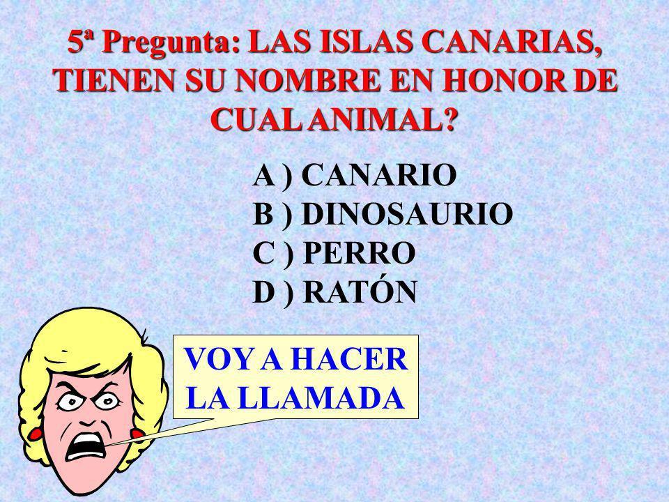 4ª Pregunta: CUAL ERA EL PRIMER NOMBRE DEL REY GEORGE VI? PASO !!!! A ) JAIME B ) ALBERT C ) GEORGE D ) MANUEL