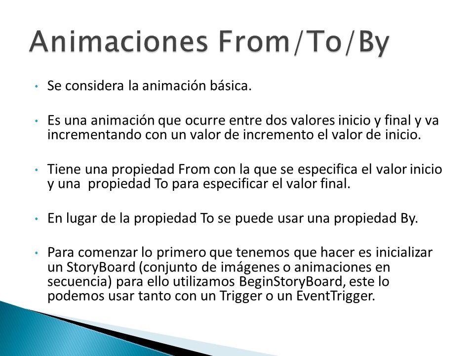 Se considera la animación básica.